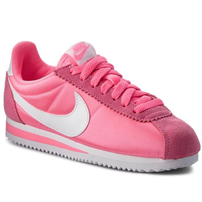 Shoes NIKE - Classic Cortez Nylon  749864 608 Rose Lazer/Blanc  Nylon - Sneakers - Low shoes - Women's shoes 65311a