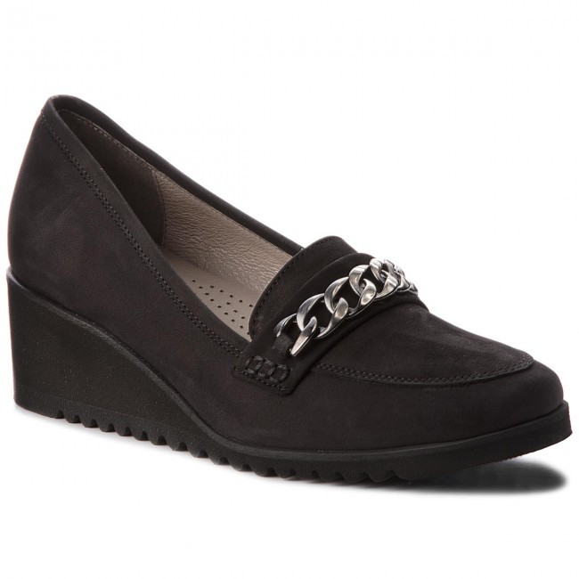 Shoes EDEO - 3306-335 Black - shoes Wedge-heeled shoes - Low shoes - - Women's shoes 0619b7