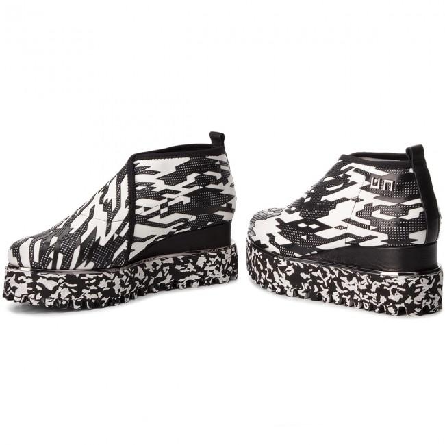 Shoes UNITED NUDE - - - Fold Casual 1026356898 Mono Geo - Wedge-heeled shoes - Low shoes - Women's shoes e725b3