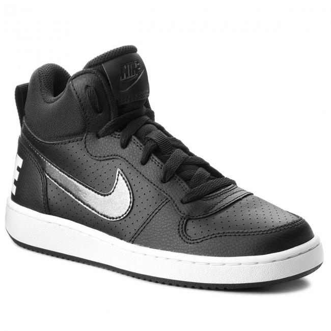 Shoes NIKE - Court 004 Borough Mid (GS) 845107 004 Court Black/Black/White - Sneakers - Low shoes - Women's shoes 4e3e41