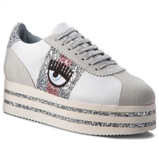 Sneakers CHIARA FERRAGNI - 18AI-CF2100 White - Sneakers Women's - Low shoes - Women's Sneakers shoes a58f06