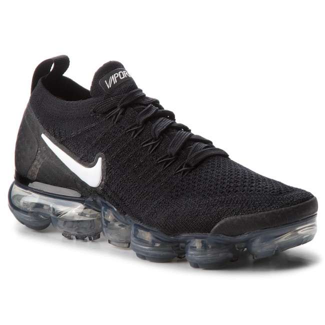 Shoes NIKE - Air Vapormax Flyknit Grey 2 942843 001 Black/White/Dark Grey Flyknit - Indoor - Running shoes - Sports shoes - Women's shoes e29cba