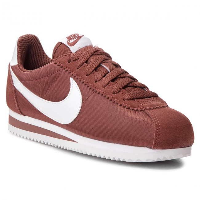 Shoes NIKE - Classic Cortez Nylon - 749864 203 Red Sepia/White - Nylon Sneakers - Low shoes - Women's shoes f0150d