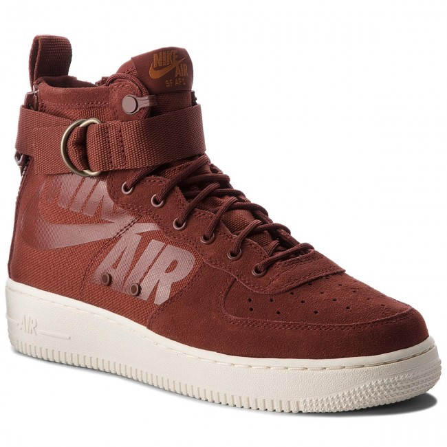 Shoes NIKE - Sf Af1 Mid (GS) AJ0424 - 201 Pueblo Brown/Pueblo Brown - AJ0424 Sneakers - Low shoes - Women's shoes 4b316b