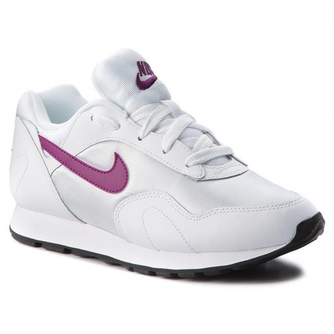 Shoes NIKE - Outburst AO1069 109 White/Bright Grape/Black - Sneakers Women's - Low shoes - Women's Sneakers shoes 7801ec