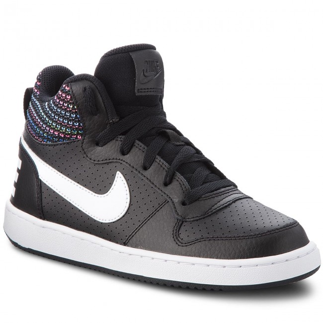 Shoes NIKE - Court Borough Mid Se (GS) 918340 Sneakers 005 Black/White/Volt/Racer Blue - Sneakers 918340 - Low shoes - Women's shoes 3801b7