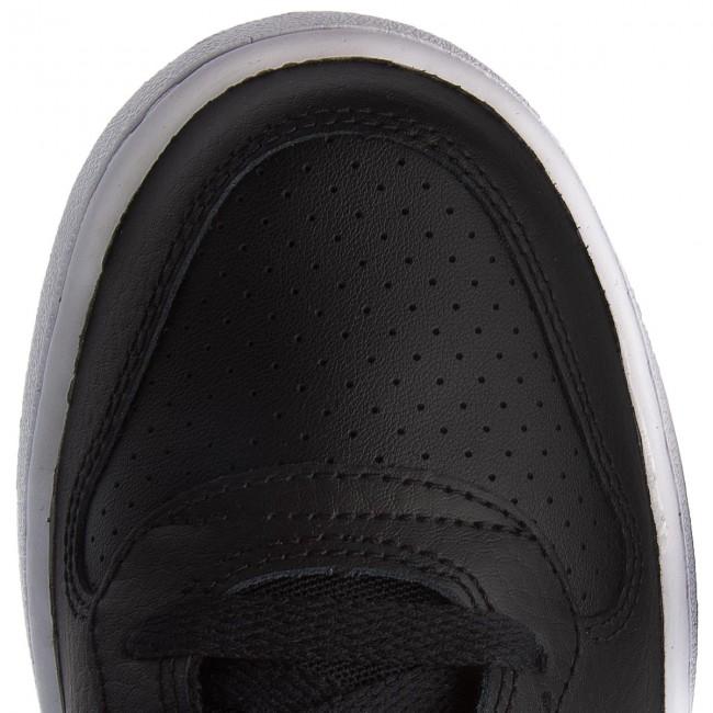 chaussures nike - (gs) cour borough mi - se (gs) - 918340 005 noir / blanc / volt / racer bleu - tennis - bas chaussures chaussures - femmes 0ccfaf