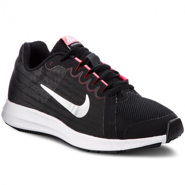 Shoes NIKE - Downshifter 8 (GS) 922855 001 Black/Metallic Silver shoes - Indoor - Running shoes Silver - Sports shoes - Women's shoes 913582