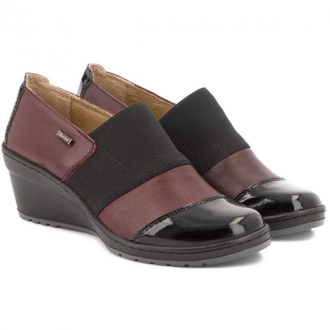 Shoes HELIOS Wiśnia/Lakier - 707  C Wiśnia/Lakier HELIOS - Wedge-heeled shoes - Low shoes - Women's shoes 5d3609