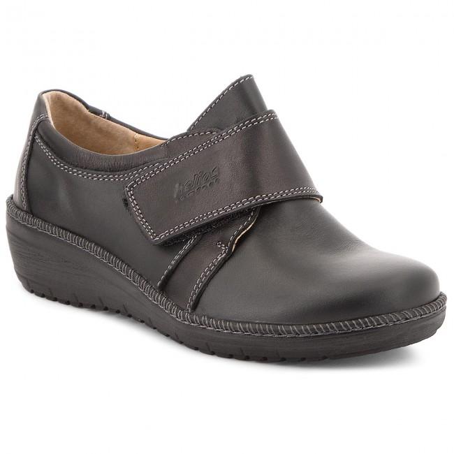 Shoes HELIOS - 323 Black - shoes Wedge-heeled shoes - Low shoes - - Women's shoes 55d7a2