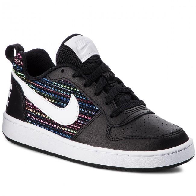 chaussures nike - cour borough borough borough faible se (gs) aa2902 001 noir / blanc / volt / racer bleu - tennis - bas chaussures chaussures - femmes 9c896a