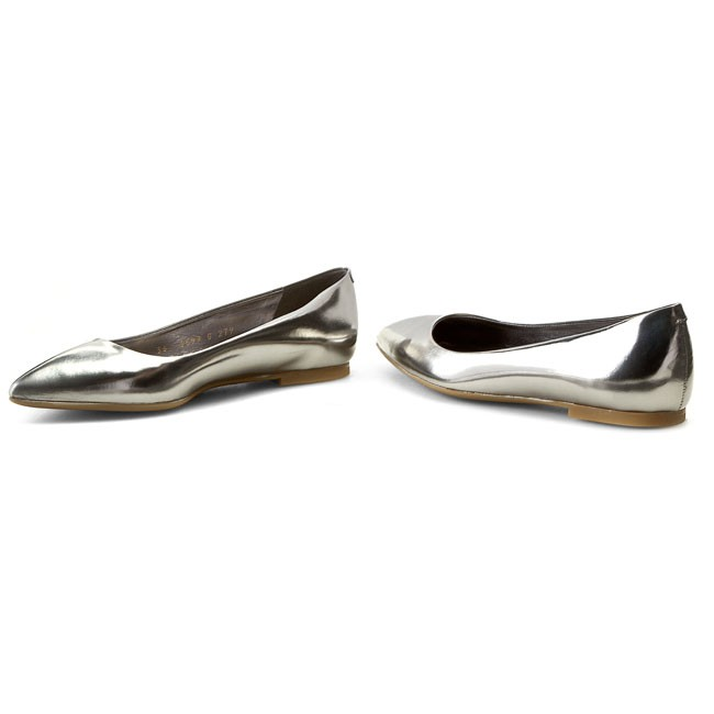 Flats GINO ROSSI - - - Ella DAG278-H75-3000-0400-0 Ciemny Nikiel 1M - Ballerina shoes - Low shoes - Women's shoes e56e3e