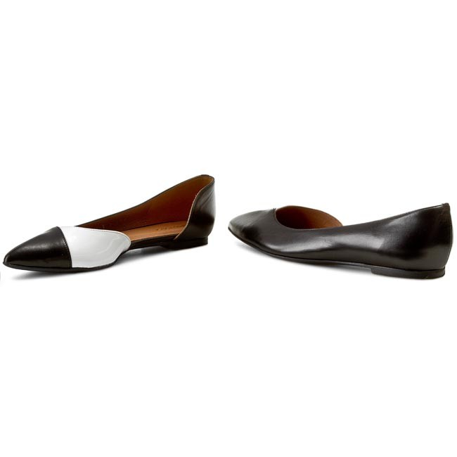Flats GINO ROSSI - Ella DAG279-H74-4342-9911-0 Czarny shoes 99/Biały 00 - Ballerina shoes Czarny - Low shoes - Women's shoes 8c779f
