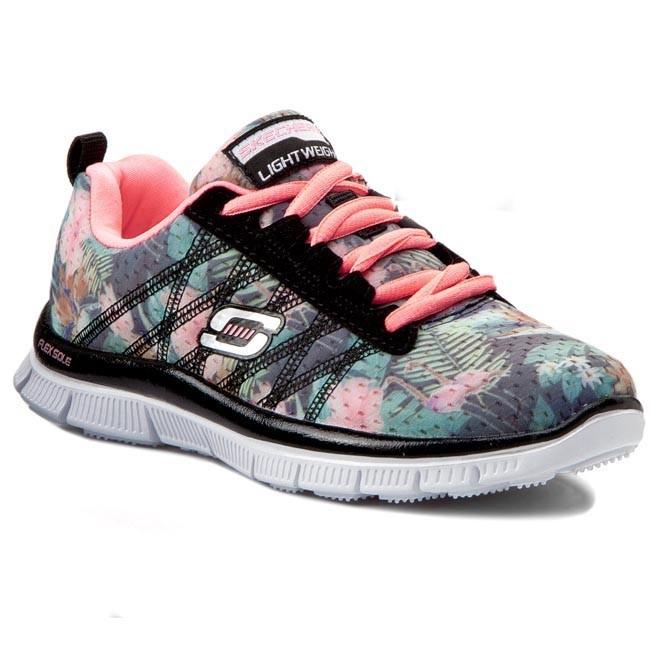 Shoes Sports SKECHERS - 81878L/BKMT Floral Bloom - Fitness - Sports Shoes shoes - Women's shoes 7f8a79