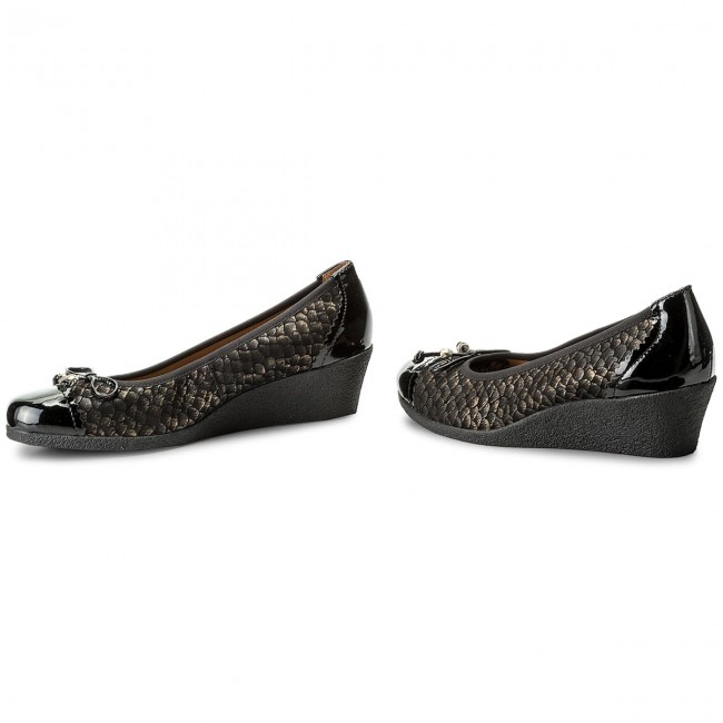 Shoes CAPRICE - 9-22350-29 Bronce Bronce Bronce Multi 955 - Wedge-heeled shoes - Low shoes - Women's shoes 6e6696