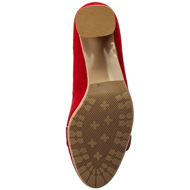 Shoes BALDACCINI - 930500-7 Czarwony Zamsz - - - Heels - Low shoes - Women's shoes c4bc9e